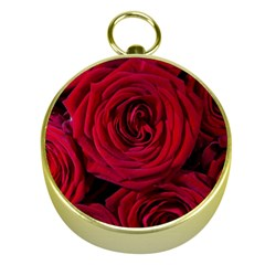 Roses Flowers Red Forest Bloom Gold Compasses