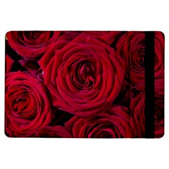 Roses Flowers Red Forest Bloom Ipad Air Flip by Amaryn4rt