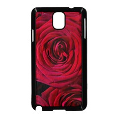Roses Flowers Red Forest Bloom Samsung Galaxy Note 3 Neo Hardshell Case (black) by Amaryn4rt