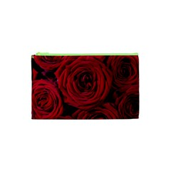 Roses Flowers Red Forest Bloom Cosmetic Bag (xs) by Amaryn4rt