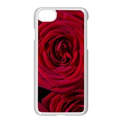 Roses Flowers Red Forest Bloom Apple Iphone 7 Seamless Case (white) by Amaryn4rt