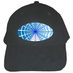 Cobweb Network Points Lines Black Cap by Amaryn4rt