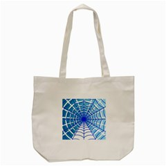 Cobweb Network Points Lines Tote Bag (cream)