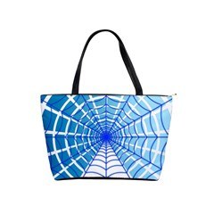 Cobweb Network Points Lines Shoulder Handbags by Amaryn4rt