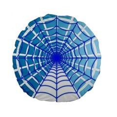 Cobweb Network Points Lines Standard 15  Premium Flano Round Cushions by Amaryn4rt