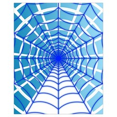 Cobweb Network Points Lines Drawstring Bag (small) by Amaryn4rt