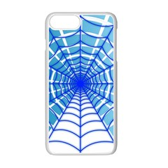 Cobweb Network Points Lines Apple Iphone 7 Plus White Seamless Case by Amaryn4rt
