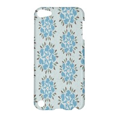 Flower Floral Rose Bird Animals Blue Grey Study Apple Ipod Touch 5 Hardshell Case by Alisyart