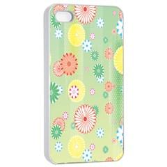 Flower Arrangements Season Pink Yellow Red Rose Sunflower Apple Iphone 4/4s Seamless Case (white) by Alisyart