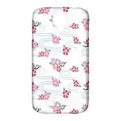 Flower Arrangements Season Sunflower Pink Red Waves Grey Samsung Galaxy S4 Classic Hardshell Case (pc+silicone) by Alisyart