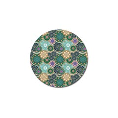 Flower Sunflower Floral Circle Star Color Purple Blue Golf Ball Marker (4 Pack) by Alisyart