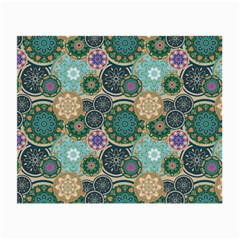 Flower Sunflower Floral Circle Star Color Purple Blue Small Glasses Cloth (2 Side) by Alisyart