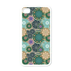 Flower Sunflower Floral Circle Star Color Purple Blue Apple Iphone 4 Case (white) by Alisyart