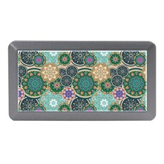 Flower Sunflower Floral Circle Star Color Purple Blue Memory Card Reader (mini) by Alisyart