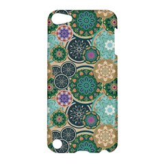 Flower Sunflower Floral Circle Star Color Purple Blue Apple Ipod Touch 5 Hardshell Case by Alisyart