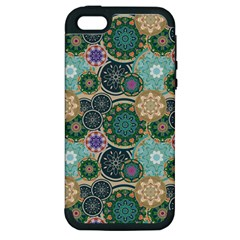 Flower Sunflower Floral Circle Star Color Purple Blue Apple Iphone 5 Hardshell Case (pc+silicone) by Alisyart