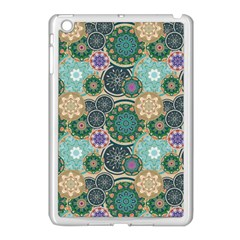 Flower Sunflower Floral Circle Star Color Purple Blue Apple Ipad Mini Case (white) by Alisyart