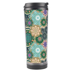 Flower Sunflower Floral Circle Star Color Purple Blue Travel Tumbler