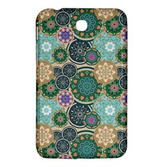 Flower Sunflower Floral Circle Star Color Purple Blue Samsung Galaxy Tab 3 (7 ) P3200 Hardshell Case  by Alisyart