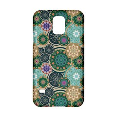 Flower Sunflower Floral Circle Star Color Purple Blue Samsung Galaxy S5 Hardshell Case  by Alisyart