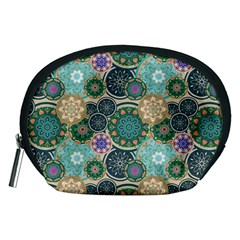 Flower Sunflower Floral Circle Star Color Purple Blue Accessory Pouches (medium)  by Alisyart