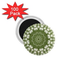 Mandala Center Strength Motivation 1 75  Magnets (100 Pack)  by Amaryn4rt