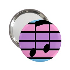 Music Gender Pride Note Flag Blue Pink Purple 2 25  Handbag Mirrors by Alisyart
