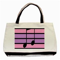 Music Gender Pride Note Flag Blue Pink Purple Basic Tote Bag by Alisyart