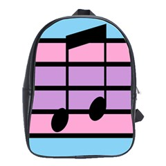 Music Gender Pride Note Flag Blue Pink Purple School Bags(large)  by Alisyart