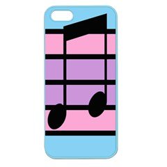 Music Gender Pride Note Flag Blue Pink Purple Apple Seamless Iphone 5 Case (color) by Alisyart