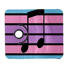 Music Gender Pride Note Flag Blue Pink Purple Galaxy S3 (flip/folio) by Alisyart