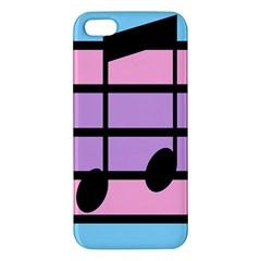 Music Gender Pride Note Flag Blue Pink Purple Iphone 5s/ Se Premium Hardshell Case by Alisyart