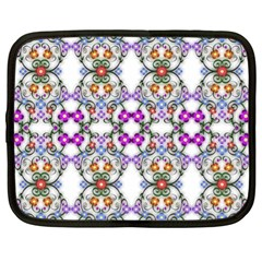 Floral Ornament Baby Girl Design Netbook Case (xl)  by Amaryn4rt