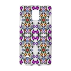 Floral Ornament Baby Girl Design Samsung Galaxy Note 4 Hardshell Case by Amaryn4rt