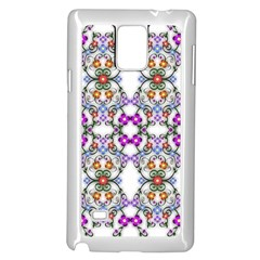 Floral Ornament Baby Girl Design Samsung Galaxy Note 4 Case (white)