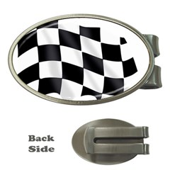 Flag Chess Corse Race Auto Road Money Clips (oval)  by Amaryn4rt