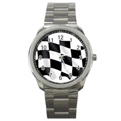 Flag Chess Corse Race Auto Road Sport Metal Watch by Amaryn4rt