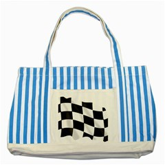 Flag Chess Corse Race Auto Road Striped Blue Tote Bag by Amaryn4rt