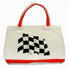 Flag Chess Corse Race Auto Road Classic Tote Bag (red) by Amaryn4rt