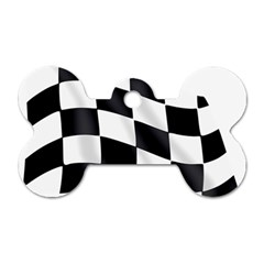 Flag Chess Corse Race Auto Road Dog Tag Bone (two Sides) by Amaryn4rt