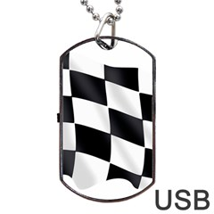 Flag Chess Corse Race Auto Road Dog Tag Usb Flash (one Side) by Amaryn4rt