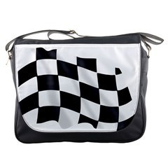 Flag Chess Corse Race Auto Road Messenger Bags by Amaryn4rt