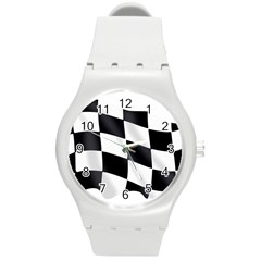 Flag Chess Corse Race Auto Road Round Plastic Sport Watch (m) by Amaryn4rt