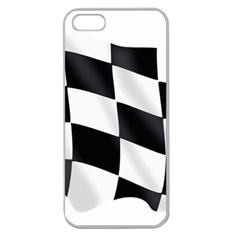 Flag Chess Corse Race Auto Road Apple Seamless Iphone 5 Case (clear) by Amaryn4rt