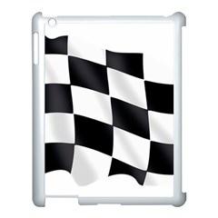 Flag Chess Corse Race Auto Road Apple Ipad 3/4 Case (white) by Amaryn4rt