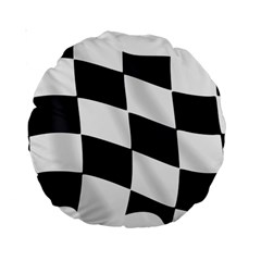 Flag Chess Corse Race Auto Road Standard 15  Premium Round Cushions by Amaryn4rt