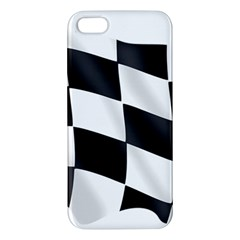 Flag Chess Corse Race Auto Road Apple Iphone 5 Premium Hardshell Case by Amaryn4rt