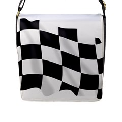 Flag Chess Corse Race Auto Road Flap Messenger Bag (l)  by Amaryn4rt