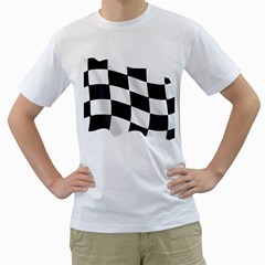 Flag Chess Corse Race Auto Road Men s T Shirt (white)  by Amaryn4rt