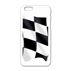 Flag Chess Corse Race Auto Road Apple Iphone 6/6s White Enamel Case by Amaryn4rt
